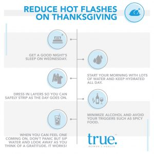 Reduce Hot Flashes On Thanksgiving